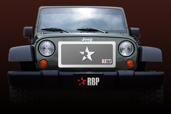 Jeep Wrangler  2007-2011 - Rbp Rl Series Plain Frame Main Grille Chrome 1pc