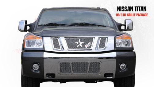 Nissan Titan  2008-2011 - Rbp Rl Series Plain Frame Main Grille Chrome 3pc