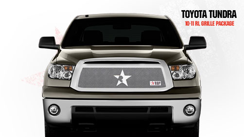 Toyota Tundra (except Limited) 2010-2011 - Rbp Rl Series Plain Frame Main Grille Chrome