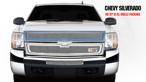 Chevrolet Silverado 2500hd/3500hd 2007-2010 - Rbp Rl Series Plain Frame Bumper Grille Chrome 2pc