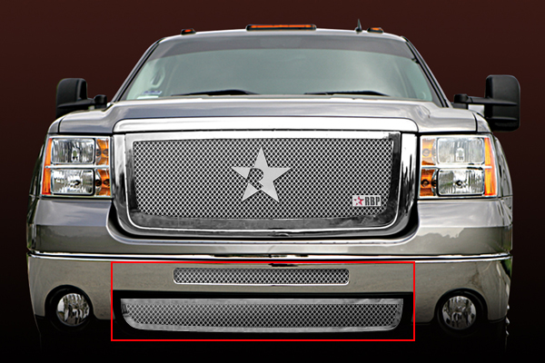 Gmc Sierra 2500hd, 3500 2007-2010 - Rbp Rl Series Plain Frame Bumper Grille Chrome 2pc
