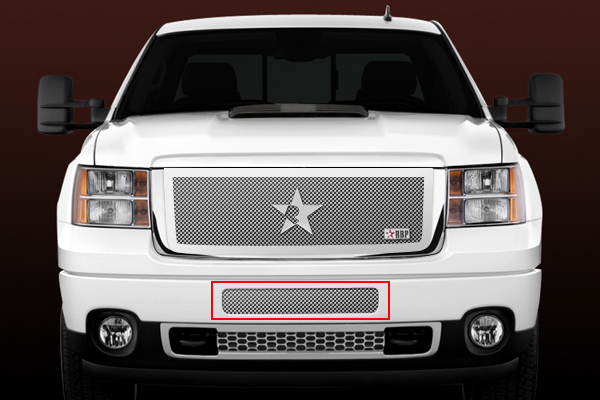 Gmc Sierra 2500hd, 3500 (except Denali) 2011-2012 - Rbp Rl Series Center Section - Mesh Bumper Grille Chrome