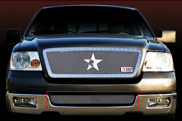 Lincoln Mark Lt  2006-2008 - Rbp Rl Series Mesh Only Bumper Grille Chrome 1pc