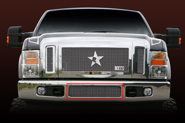 Ford F150 (except Harley Edition) 2009-2012 - Rbp Rl Series Center Section - Mesh Bumper Grille Chrome