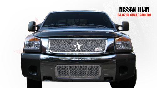 Nissan Titan  2004-2009 - Rbp Rl Series Plain Frame Bumper Grille Chrome