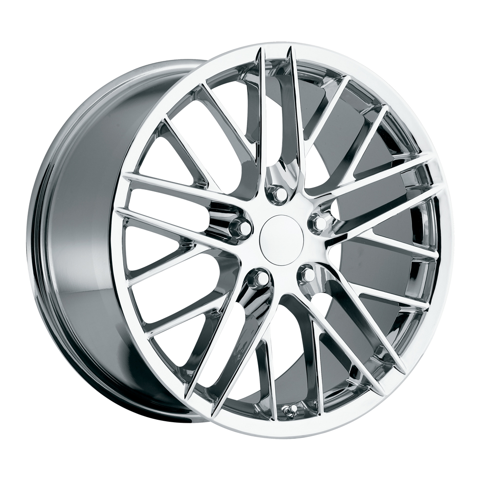 Chevrolet Corvette 1997-2012 17x8.5 5x4.75 +56 2009 Zr1 Style Wheel - Chrome With Cap
