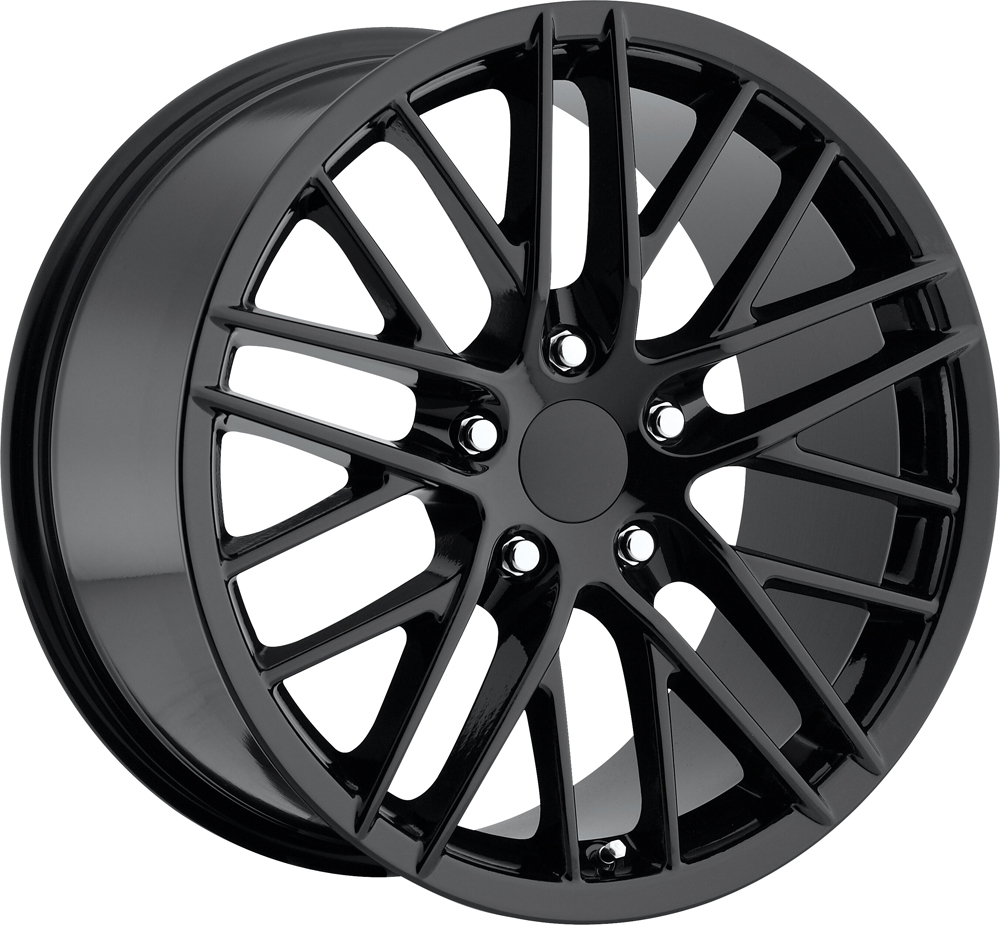 Chevrolet Corvette 1997-2012 17x8.5 5x4.75 +56 2009 Zr1 Style Wheel - Gloss Black With Cap