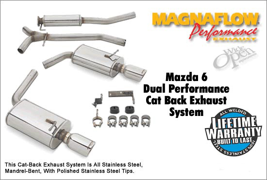 Mazda 6 3.0L 03-06 Magnaflow Cat Back Exhaust System