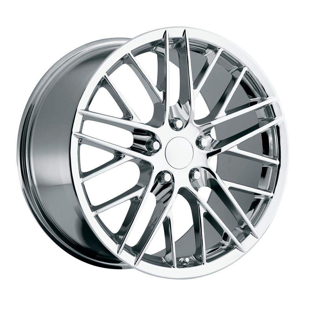 Chevrolet Corvette 1997-2012 19x10 5x4.75 +56 2009 Zr1 Style Wheel - Chrome With Cap