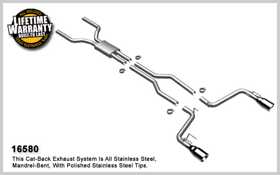Chevrolet Camaro SS 2010 Magnaflow Competition Series Stainless Cat-Back System