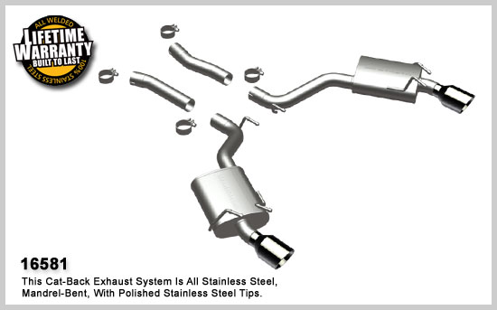 Chevrolet Camaro 2010 SS V8 Magnaflow Axle Back Exhaust System