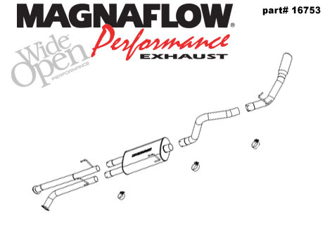 2007 Toyota Tundra 5.7 Magnaflow Cat Back Exhaust System