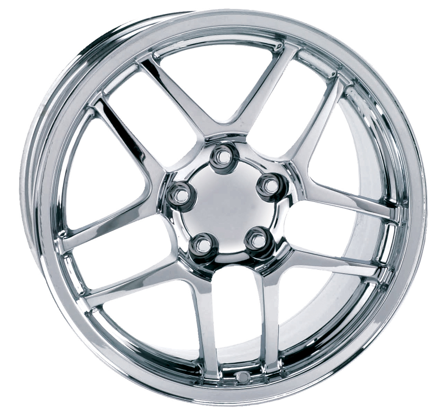 Chevrolet Corvette 1997-2004 17x9.5 5x4.75 +54 -C5 Z06 Style Wheel - Chrome With Cap