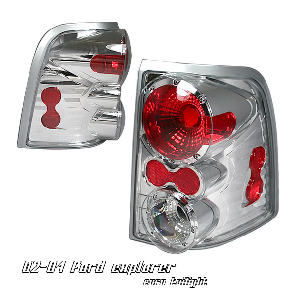 Ford Explorer 2002-2004  Chrome Euro Tail Lights