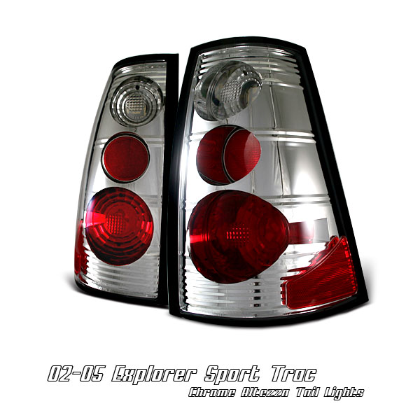 Ford Explorer 2002-2005 Sport Trac Chrome Euro Tail Lights