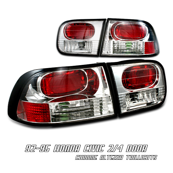 Honda Civic 1992-1995 2/3 Dr Chrome Euro Tail Lights