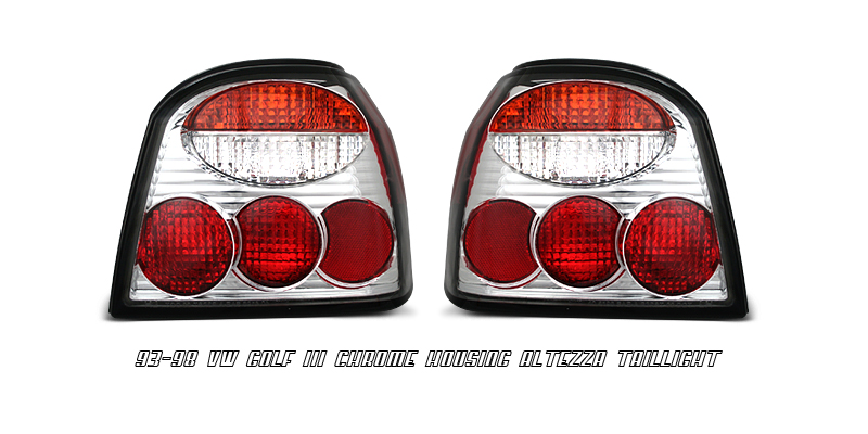 Volkswagen Golf 1993-1998  Chrome Euro Tail Lights