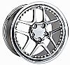 2003 Chevrolet Corvette  18x9.5 5x4.75 +57 -C5 Z06 Style Wheel - Motorsport Chrome With Cap