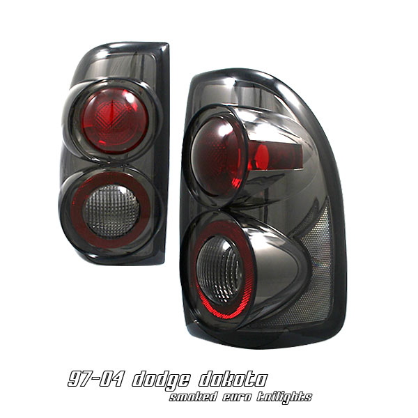 Dodge Dakota 1997-2004  Smoke Euro Tail Lights