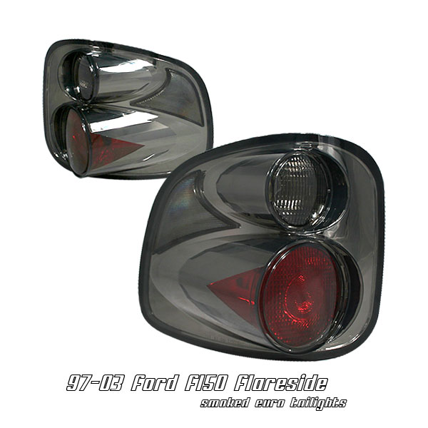 Ford F150 1997-2003 Flareside Smoke Euro Tail Lights