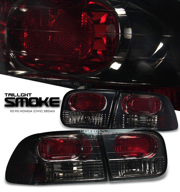 Honda Civic 1992-1995 2/3 Dr Smoke Euro Tail Lights