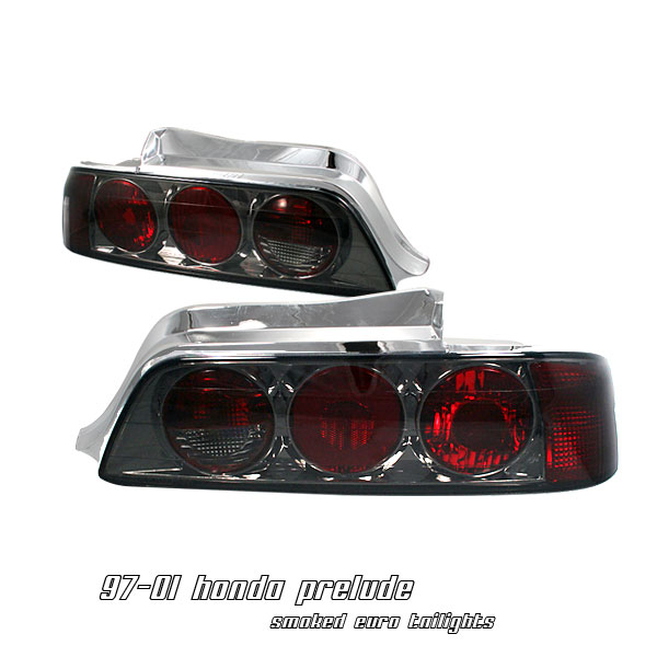 Honda Prelude 1997-2001  Smoke Euro Tail Lights