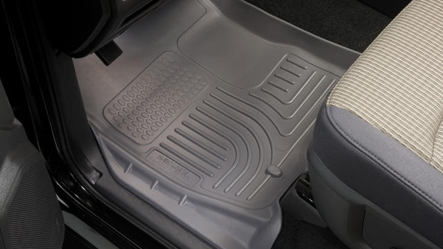 Dodge Caravan 2008-2013  Husky Weatherbeater Series Front Floor Liners - Gray