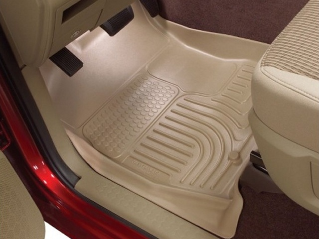 Ford Super Duty 2008-2010 F-350 Husky Weatherbeater Series Front Floor Liners - Tan