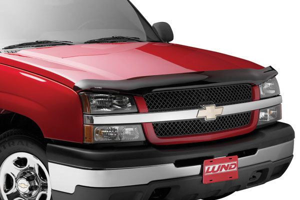 Chevrolet Silverado 2011-2012 Hd Interceptor Hood Shield (smoke)