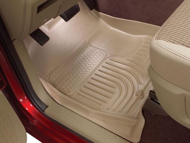 Toyota Tundra 2010-2013  Husky Weatherbeater Series Front Floor Liners - Tan