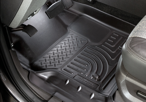 Ford Super Duty 2011-2012 F-350 Husky Weatherbeater Series Front Floor Liners - Black