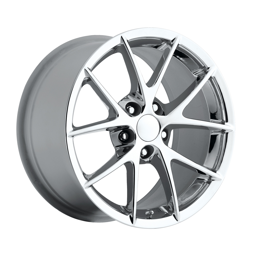 Chevrolet Corvette 1997-2012 17x8.5 5x4.75 +56 - 2009 Z06 Style Wheel -  Chrome With Cap