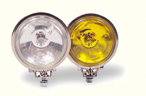 3.5 Inch Halogen Spot Lights Stainless, Amber Lens