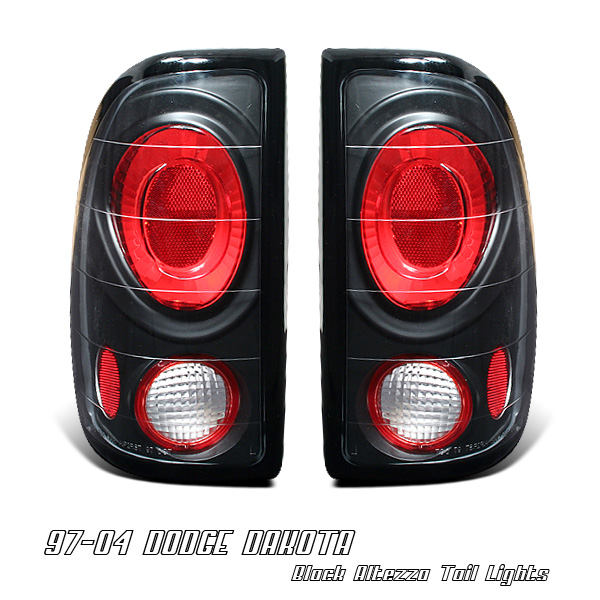Dodge Dakota 1997-2004  Black Euro Tail Lights