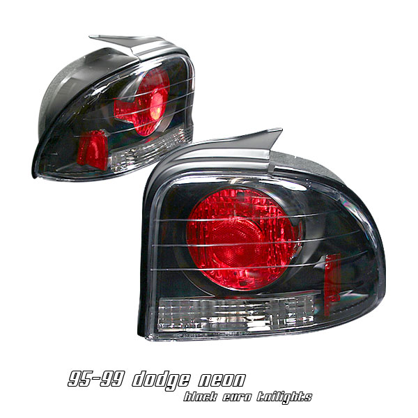 Dodge Neon 1995-1999  Black Euro Tail Lights