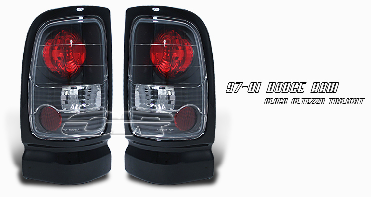 Dodge Ram 1994-2001  Black Euro Tail Lights