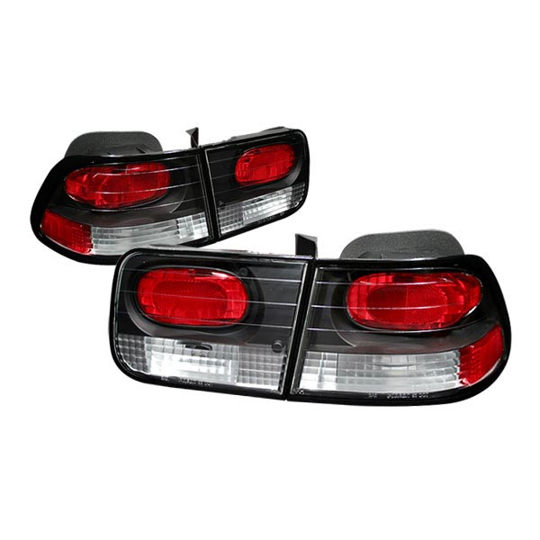 Honda Civic 1996-2000 2dr Black Euro Tail Lights