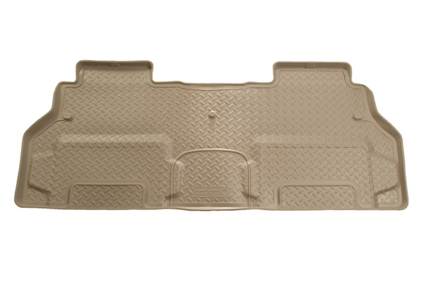 Dodge Caravan 2008-2013  Husky Weatherbeater Series 2nd Seat Floor Liner - Tan