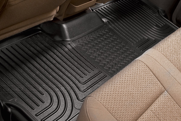 Dodge Caravan 2008-2013 ,  Husky Weatherbeater Series 3rd Seat Floor Liner - Black