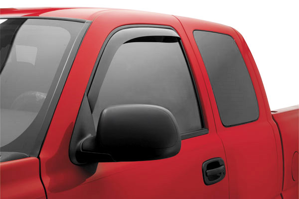 Jeep Wrangler 2-Door 2007-2012 Ventvisor In-Channel Front Window Deflectors  (smoke)