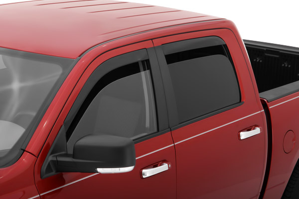 Dodge Ram 1500 Crew Cab 2009-2012 Ventvisor In-Channel Front & Rear Window Deflectors  (smoke)