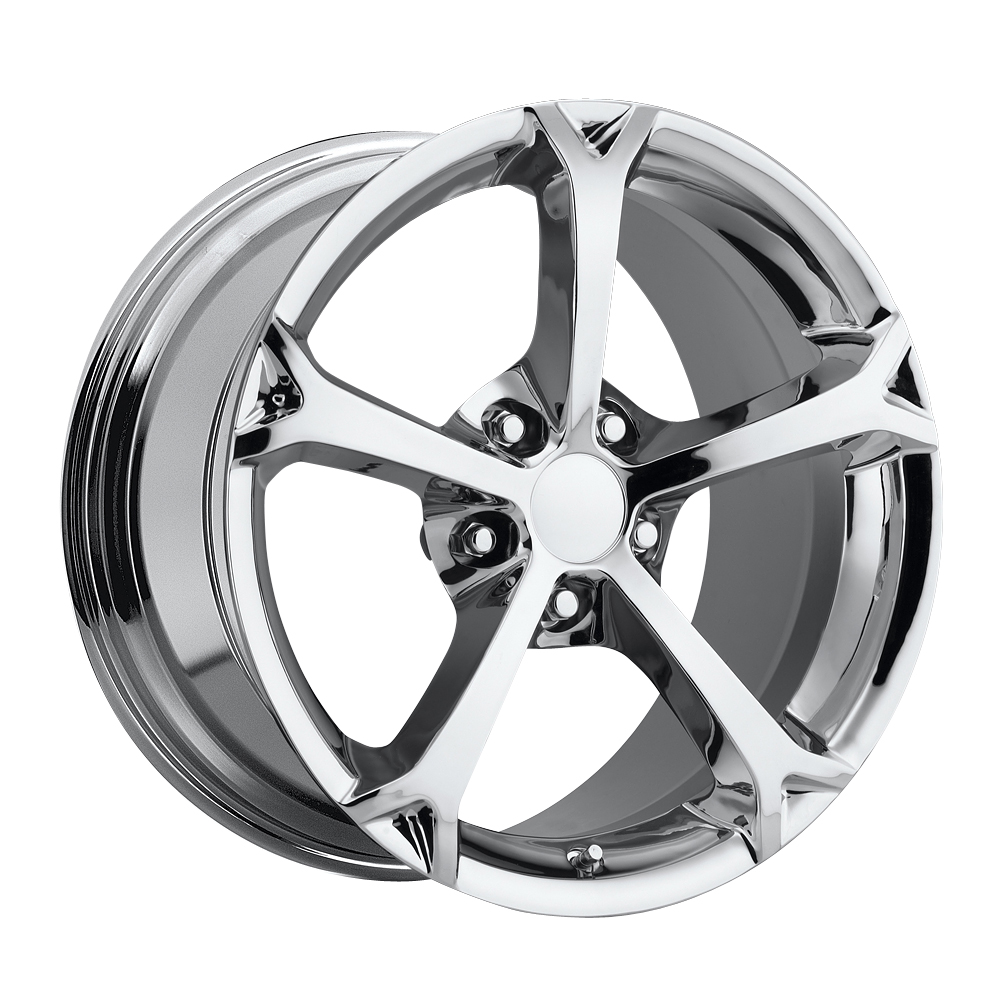 Chevrolet Corvette 1997-2012 17x8.5 5x4.75 +56 - Grand Sport Style Wheel - Chrome With Cap
