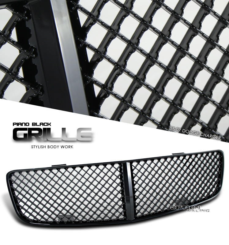Dodge Charger 2005-2008  Diamond Style Black Front Grill