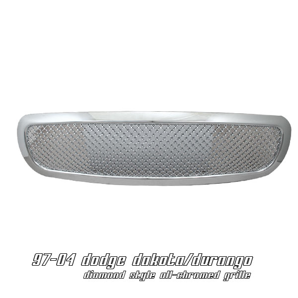 Dodge Dakota 1997-2004  Diamond Style Chrome Front Grill