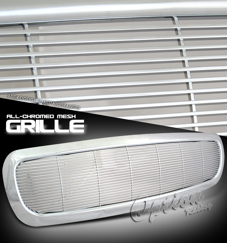 Dodge Dakota 1997-2004  Billet Style Chrome Front Grill