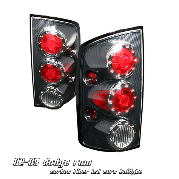 Dodge Ram 2002-2005  Carbon Fiber Euro Tail Lights