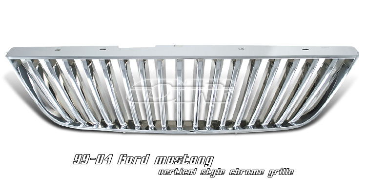 Ford Mustang 1999-2004 Chrome Vertical Style Grill