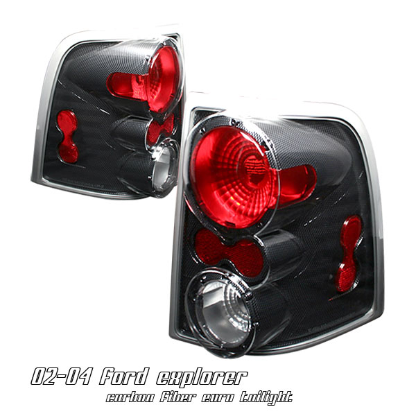 Ford Explorer 2002-2004  Carbon Fiber Euro Tail Lights