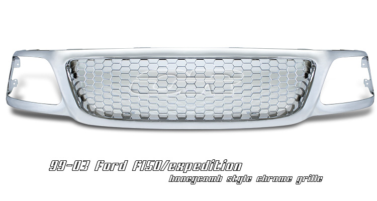 Ford F150 1999-2003 Honeycomb Style Chrome Grill