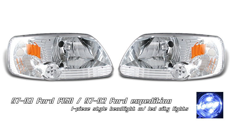 Ford F150 1997-2003 One-Peice Projector Head Lights